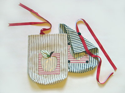 Striped Ticking Gift Bags